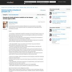 Exemple de charte de bonne conduite sur les réseaux sociaux (agence DDH)