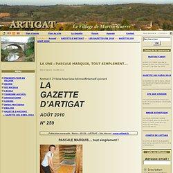 Commune d'Artigat - LA UNE: PASCALE MARQUIS, TOUT SIMPLEMENT...