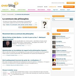 La commune des philosophes, Logos spermatikos, Le blog des blogs