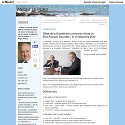 Débat de la Gazette des communes Anicet Le Pors-François Sauvadet – le 15 décembre 2014