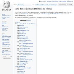 Liste des communes littorales de France