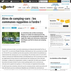 Aires de camping-cars : les communes rappelées à l'ordre !