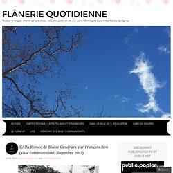 L'Alfa Roméo de Blaise Cendrars par François Bon (Vase communicant, décembre 2012)