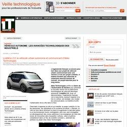 Link&Go 2.0, le véhicule urbain autonome et communicant d'Akka Technologies