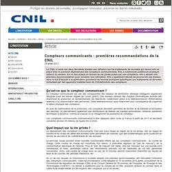 Compteurs communicants : premières recommandations de la CNIL