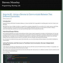 AngularJS - Using a Service to Communicate Between Two Different Controllers