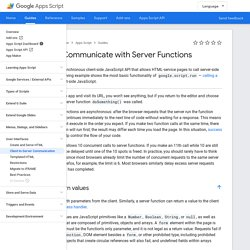 HTML Service: Communicate with Server Functions