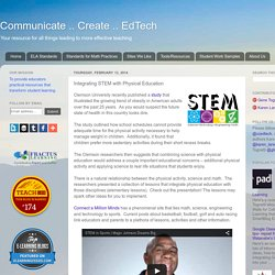 Communicate .. Create .. EdTech: Integrating STEM with Physical Education