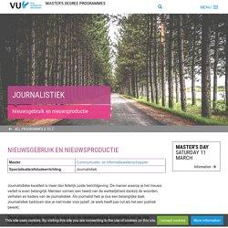 Communicatie- & Informatiewetenschappen: Journalistiek - Master's degree programmes - Master's programme's Vrije Universiteit Amsterdam