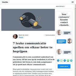 7 leuke communicatie spellen om elkaar beter te begrijpen