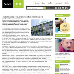 Herindeling communicatiefuncties Saxion - Sax.nu