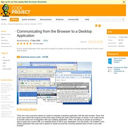Communicating from the Browser to a Desktop Application