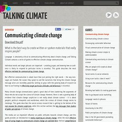 Communicating climate change