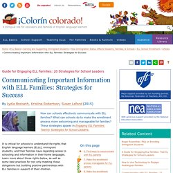 Communicating Important Information with ELL Families: Strategies for Success