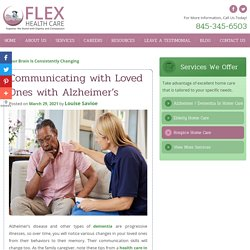 Communicating with Loved Ones with Alzheimer's