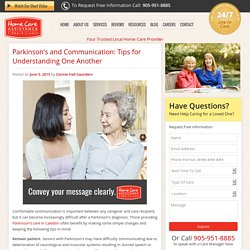 Tips for Communicating with a Parkinson's Patient