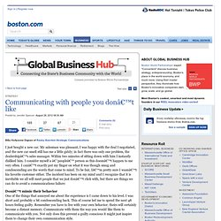 Communicating with people you don't like - Global Business Hub