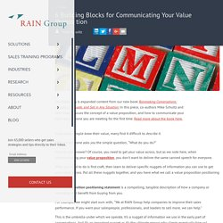 6 Building Blocks for Communicating Your Value Proposition