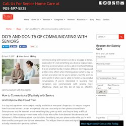 Do's and Don'ts of Communicating with Seniors - HCA Toronto