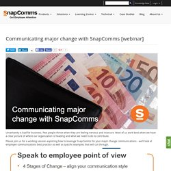 Communicating major change with SnapComms [webinar]