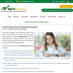 Communicating with Teachers During Virtual Learning