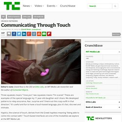Communicating Through Touch