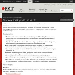 Communicating with students - RMIT University