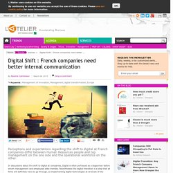 Digital Shift : French companies need better internal communication