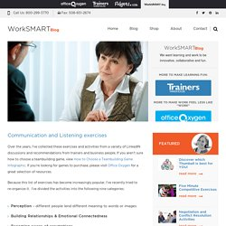 Communication exercises & listening activities - WorkSMART
