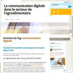 La communication digitale dans le secteur de l'agroalimentaire