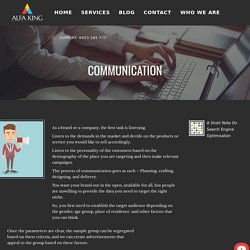 Communication - ALFA KING