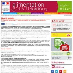 MAAF 13/02/13 Traçabilité alimentaire : communication en conseil des ministres