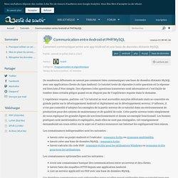 Communication entre Android et PHP/MySQL