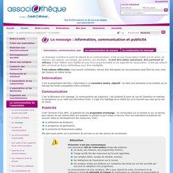 Information, communication et publicité - associathèque
