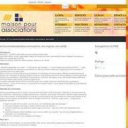 #1 La communication associative, ses enjeux, ses outils - Maison Pour Associations
