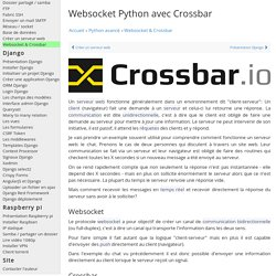 Websocket python : crossbar WAMP - communication birectionnelle publish subscribe call remote register - tutoriel python cours développeur web