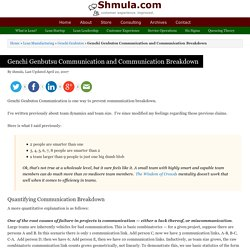 Genchi Genbutsu Communication - How to Prevent Communication Breakdown