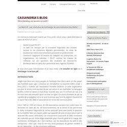 Le Web 2.0 : une révolution de la stratégie de communication des ONGs ?