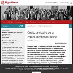 Covid, la victoire de la communication humaine – Revue Hermès – Cognition – Communication – Politique