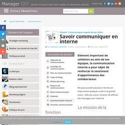 Communication interne : des cours, articles et exemples via Manager GO!