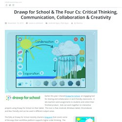 Drawp for School & The Four Cs: Critical Thinking, Communication, Collaboration & Creativity