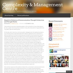 Repetitive Patterns of Communication: Thought Collectives and Thought Styles