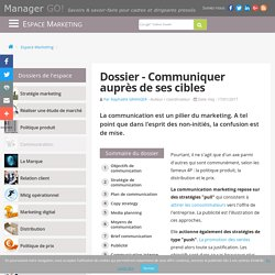 Communication marketing et communication commerciale, cours et articles