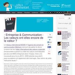 Entreprise & Communication : Les valeurs ont-elles encore de la valeur