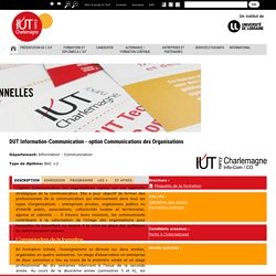 DUT Information-Communication - option Communications des Organisations