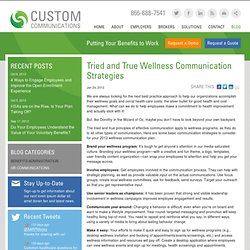 Tried and True Wellness Communication Strategies