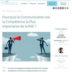 La communication est la compétence RSE la plus importante
