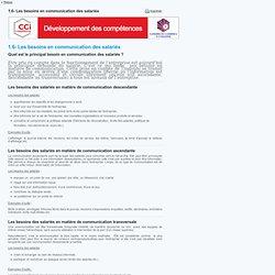 1.6- Les besoins en communication des salariés