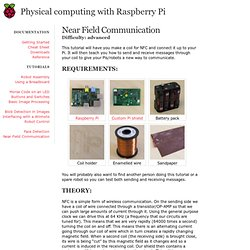 Near Field Communication - Physical Computing with Raspberry Pi