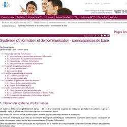 Systèmes d'information et de communication - connaissances de base (vitrine.Systèmes d'information et de communication - connaissances de base) - CNFPT
